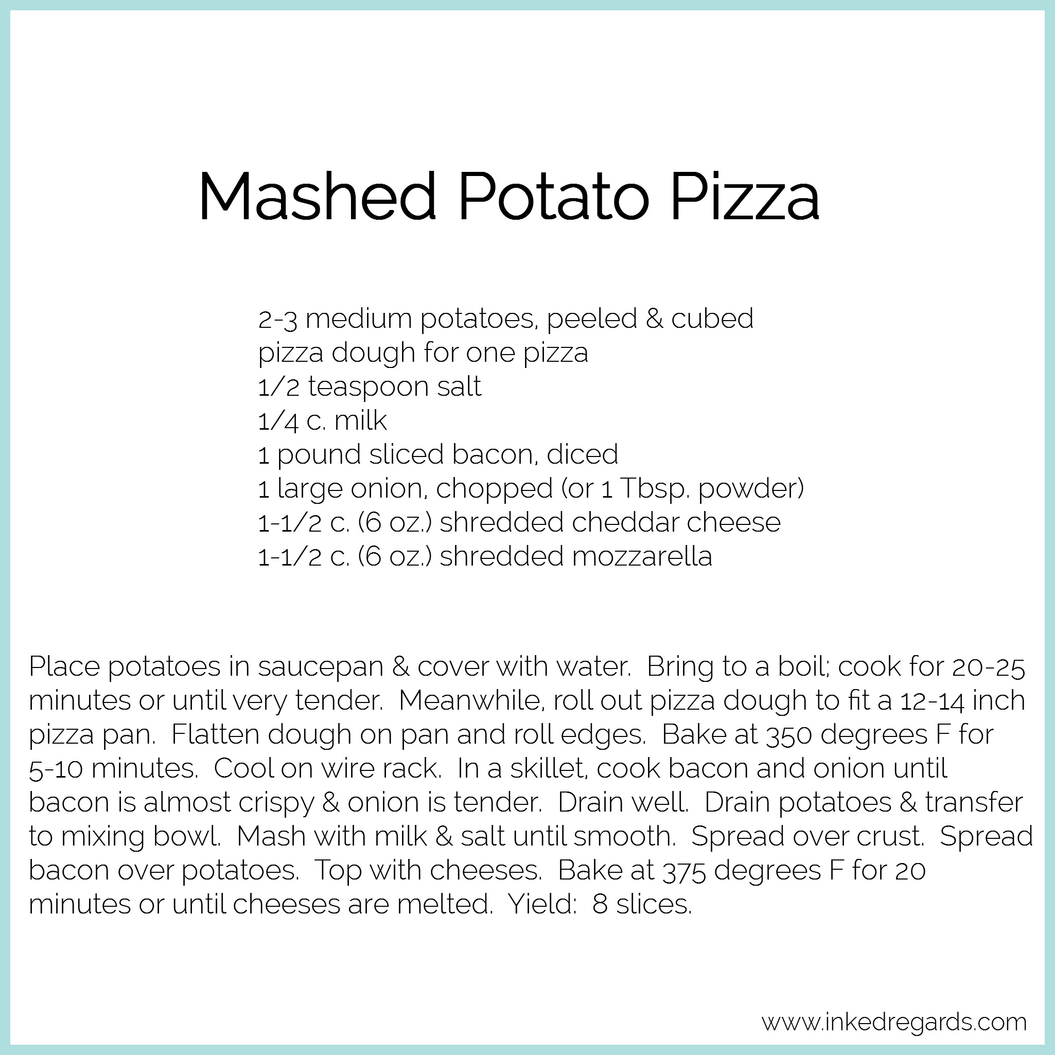 2016 July Mashed Potato Pizza
