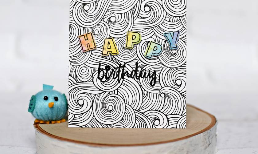 Honey Bee Stamps Ocean Background Birthday