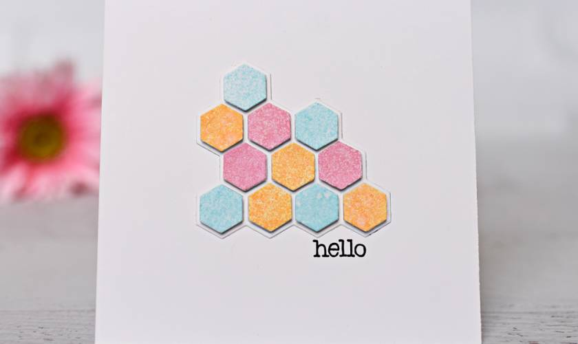 Honey Bee Stamps Hexagon Hello