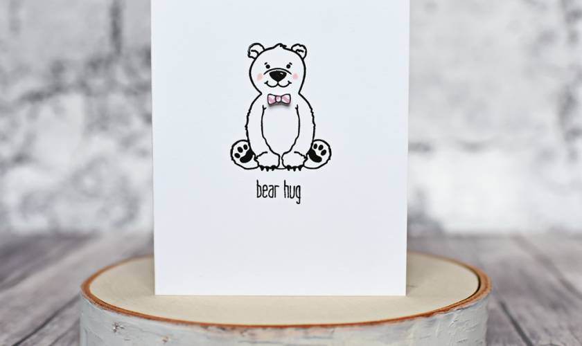 Honey Bee Stamps Bear Hug